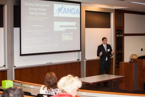 Brian Kelley '18 , founder of Kanga Trash & Energy Systems