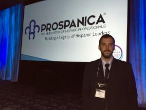 Bernardo Heiremans, MBA'17, at the Prospanica Conference in Houston, TX.
