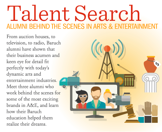 Talent Search: Alumni Behind the Scenes in Arts and Entertainment