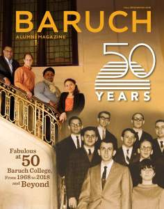 Cover of Fall 2018 issue of Baruch Alumni Magazine