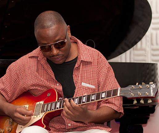Guitarist Robert Mwamba