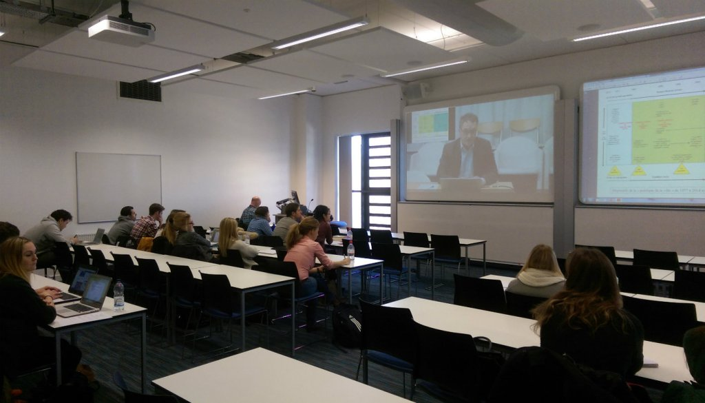 Dr Didier Desponds shared his expertise with students via Skype.