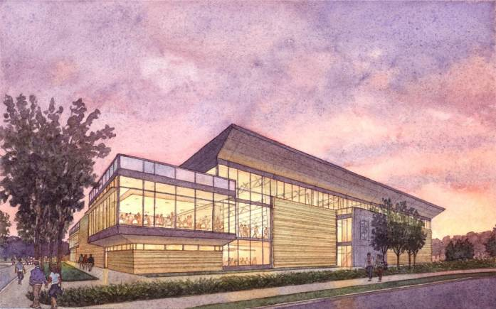 A rendering of the future Multipurpose Arena, which recently broke ground.