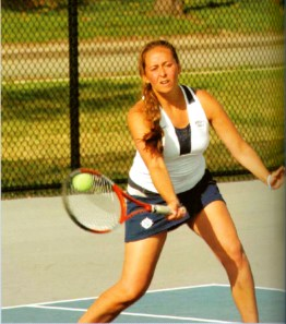 Women's Tennis, 2006. Men's and women's teams did not form until the 1970s, since Bentley did not have any space for courts in Boston!