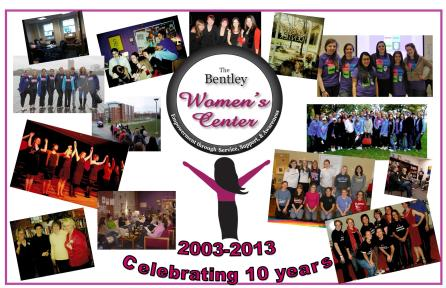 Poster created for 10th anniversary of the Women's Center