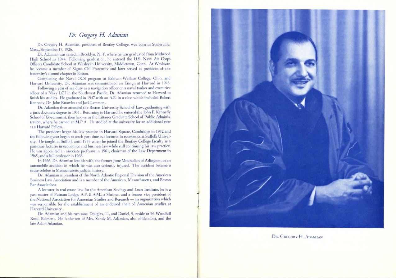 1970 Inauguration Program