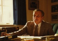 c1980s - President Adamian at his desk