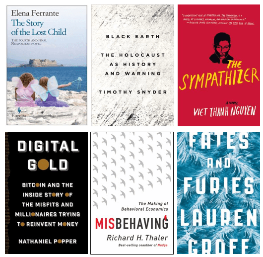 A few selections from the Best Books of 2015 display