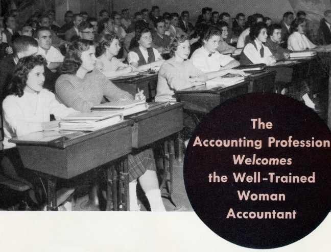 archival photo of women in the classroom
