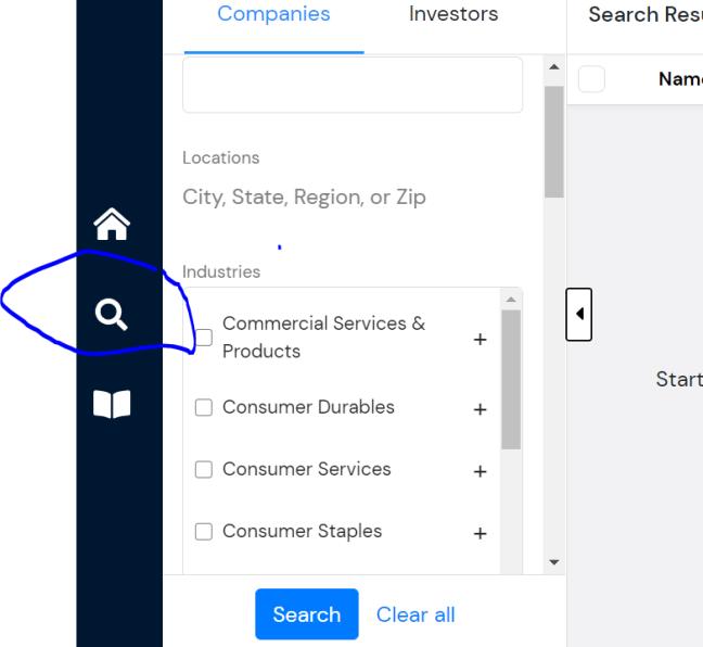 PrivCo search feature
