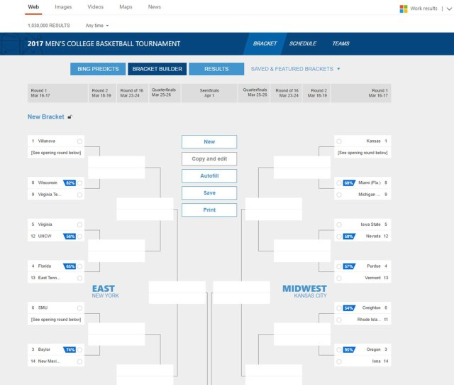 Build A Smarter Bracket With Bing