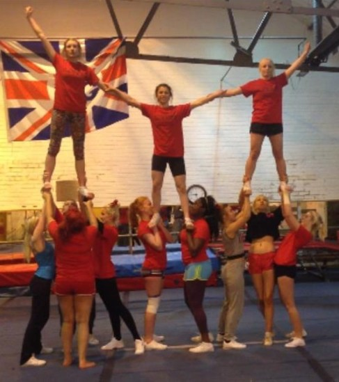 Stunt group pyramid