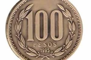 100 peso coin.