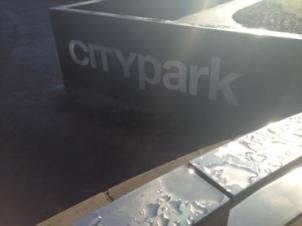 City Park sign.