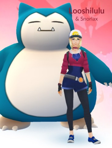 I considered having Snorlax as my buddy, but we just didn't look right together