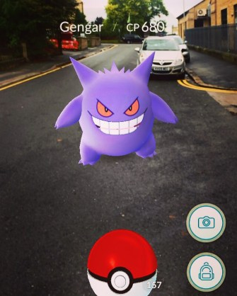 Gengar just off Great Horton Road (Claremont Road by Sainburys Local)