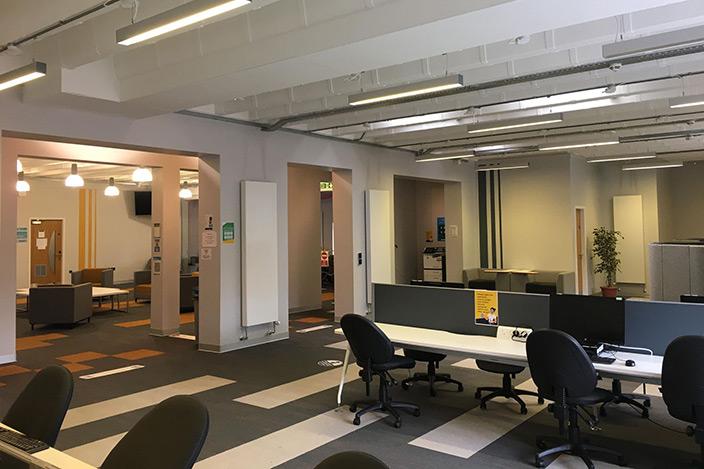 The Postgraduate Research Lounge.