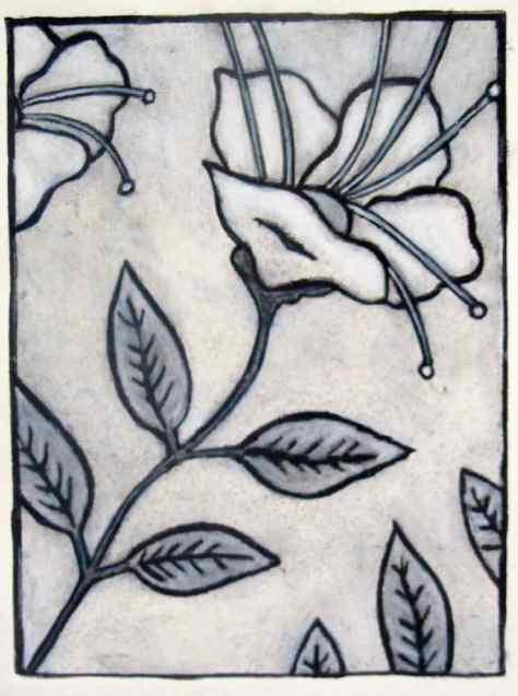 Henna Plant Styrofoam Print