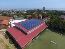 Soltarvoltaic panels at Hillbrow building on the Eastbourne campus-15htbcp