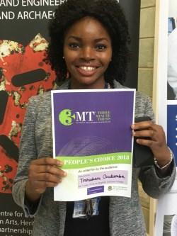 Tochukwu Ozulumba People's Choice 3MT winner