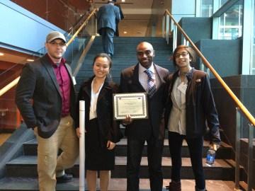 Chris, Angelia, Eric and Nalini at the NE Science Symposium