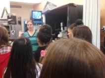 Torrey explains the brain to Talbot students