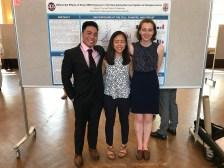 Alfonso, Karine and Julia, honors presentation