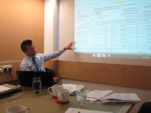 BSRIA's Peter Tse at the workshop