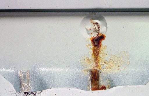 Pinhole corrosion of radiator (outside surface)