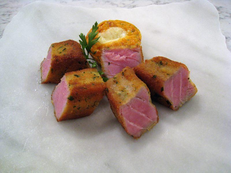Atún empanado