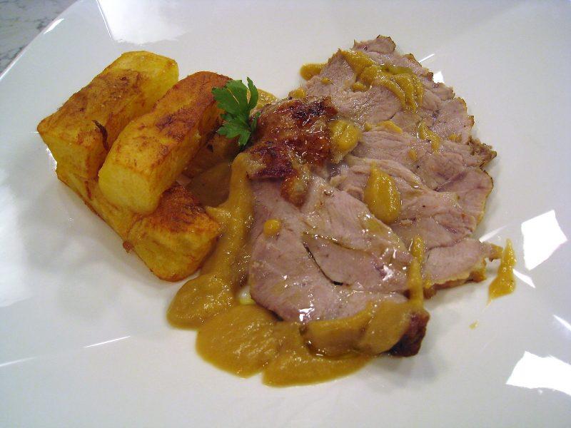 Lomo braseado con patatas
