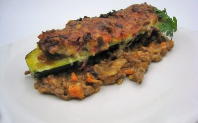 Calabacines rellenos de carne