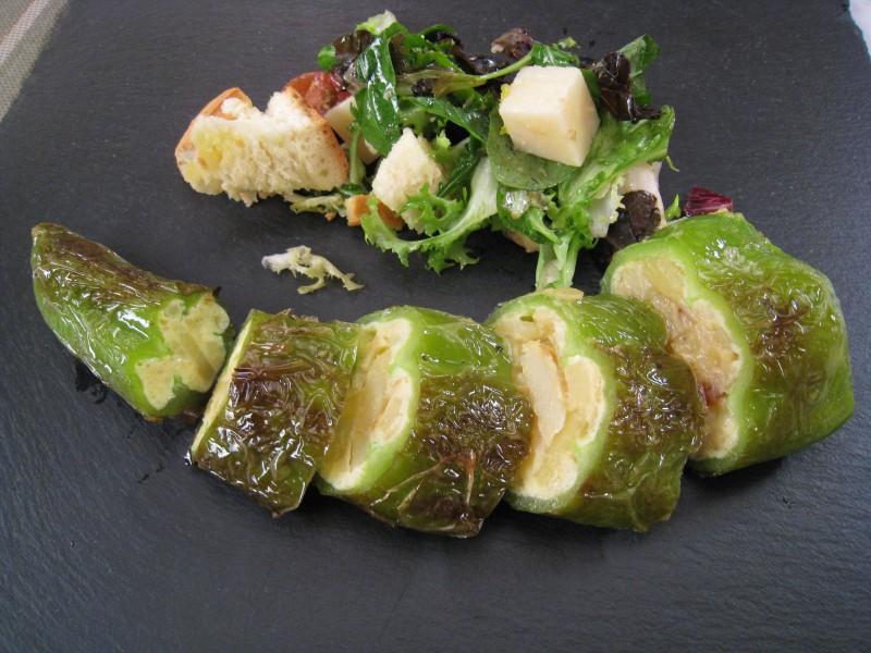 Pimientos Verdes Rellenos De Tortilla