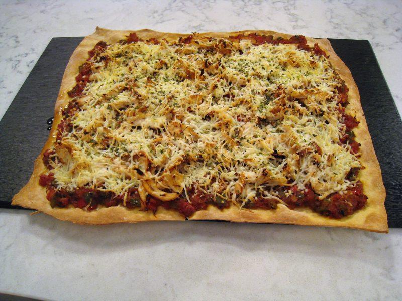 Pizza de Pollo con verduras
