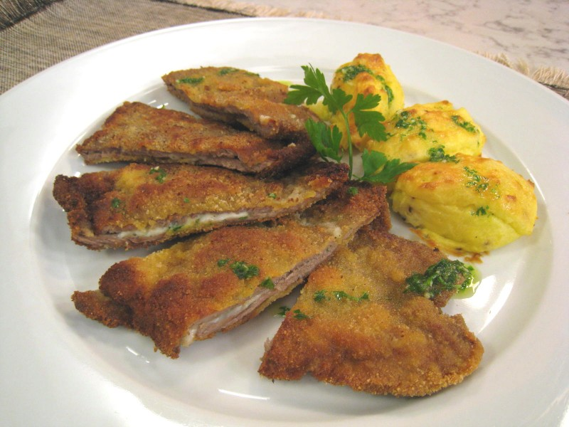 San Jacobo con patatas