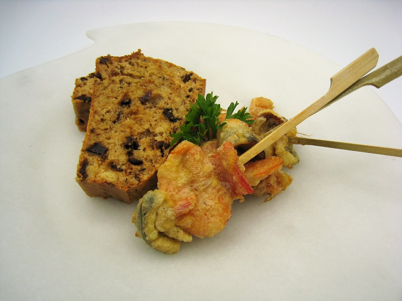Brocheta de sardinas y langostinos