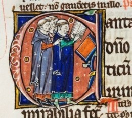 Durham Cathedral MS A.II.10, fol. 224v. © Chapter of Durham Cathedral. Decorated initial from Peter Lombard's commentary on the Psalms.