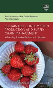 The front cover of Dr Daniel Newman's new book on Sustainable Consumption.
