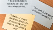 flash cards with statements about hidden conditions