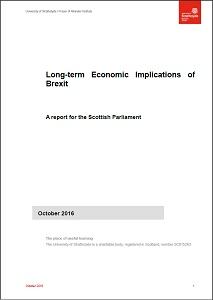 Long-term economic implications of Brexit : a report for the Scottish Parliament