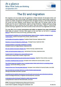The EU and migration / European Parliamentary Research Service