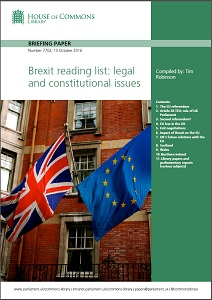 Brexit reading list : legal and constitutional issues / House of Commons Library