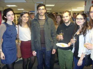 A group of students at the Erasmus Reception