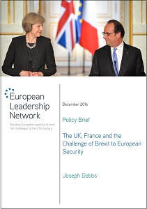 The UK, France and the challenge of Brexit to European security / Joseph Dobbs
