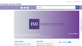 European Sources Online home page