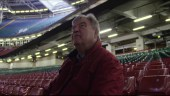 Clive Norling sits in the Principality Stadium