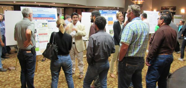 A poster session on the first day of the conference featured nutrient research from around California.