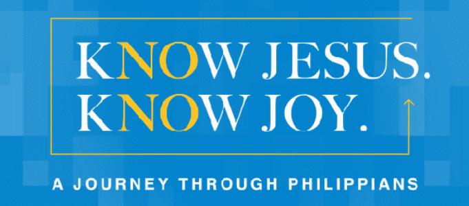 Know Jesus. Know Joy. sermon series logo