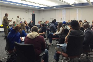 Students from Urbana, Wittenberg and Cedarville Universities get to know each other through conversation