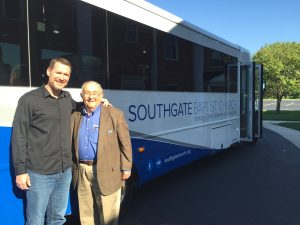 Pastor Bobby Hile, stands with Dr. Murray Murdoch as they prepare to participate in the Cedarville University Civil Rights Tour